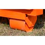 10. Une paire de roues pour le déplacement local (OPT-WL). Vous permet de déplacer la rampe d'une porte à une autre à l'aide d'un chargeur.