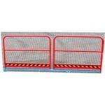 5. Le garde-corps sur la rampe est un passage sécurisé pour les piétons grâce à une rambarde de 1 000 mm de hauteur. Ils sont installés à la place des clôtures de base (hauteur 250 mm).
